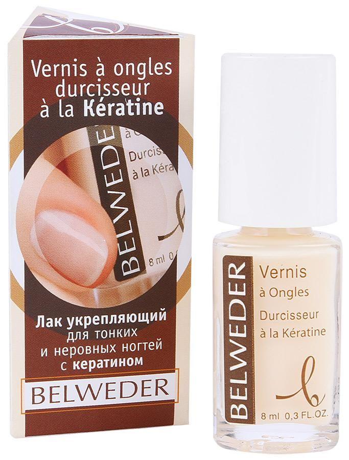 фото упаковки Belweder Лак укрепляющий для тонких и неровных ногтей с кератином