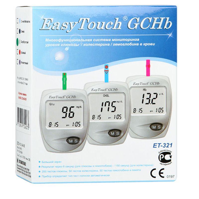 фото упаковки EasyTouch GCHB ET-321 анализатор крови Глюкоза Холестерин Гемоглобин