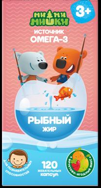 фото упаковки Ми-ми-мишки Рыбий жир фруктово- ягодный микс