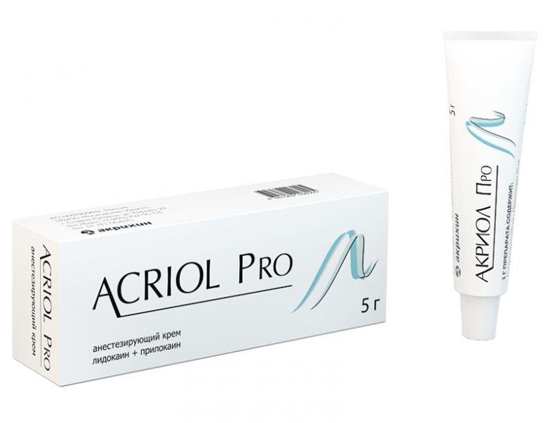 Акриол Про, 2.5%+2.5%, крем для местного и наружного применения, 5 г, 1 шт.