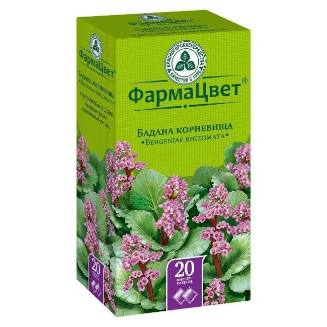Бадана корневища, сырье растительное-порошок, 1.5 г, 20 шт.