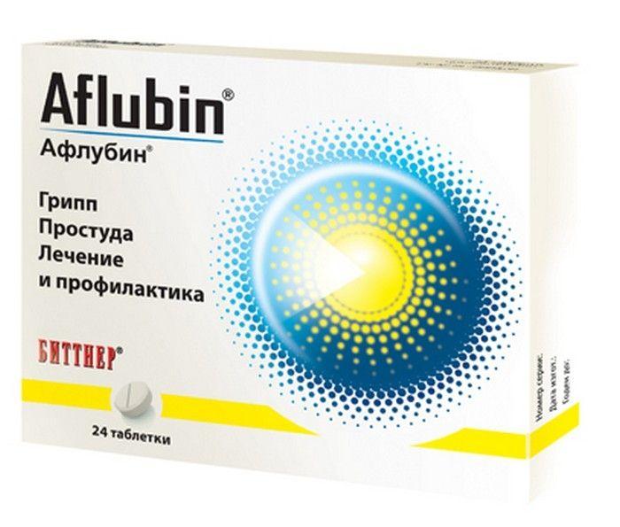 Афлубин, таблетки подъязычные гомеопатические, 24 шт.