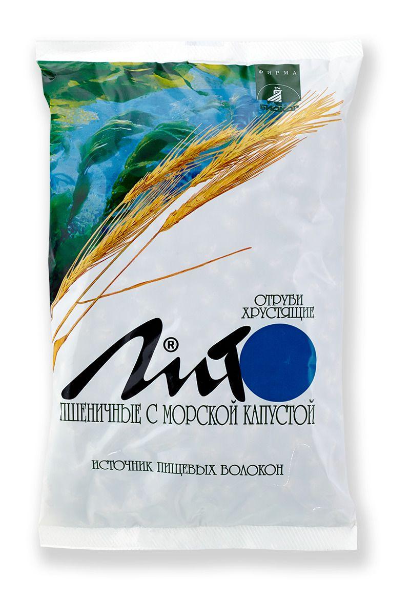 фото упаковки Отруби пшеничные хрустящие Лито с кальцием и морской капустой