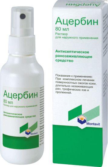 Ацербин, раствор для наружного применения, 80 мл, 1 шт.