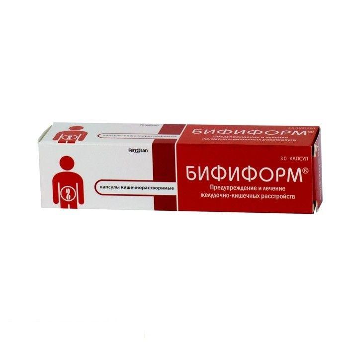 Бифиформ, капсулы кишечнорастворимые, 30 шт.