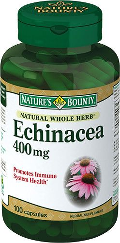 Natures Bounty Эхинацея натуральная 400 мг, 400 мг, капсулы, 100 шт.