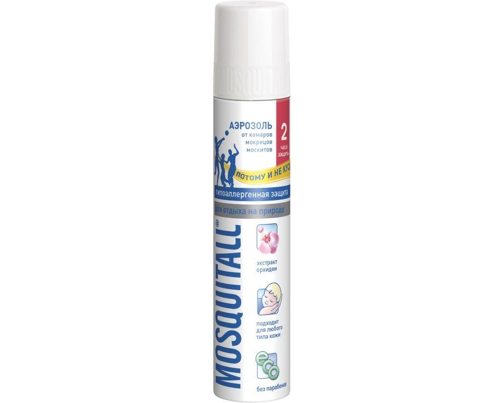 Mosquitall Гипоаллергенная защита аэрозоль, аэрозоль, на кожу, 150 мл, 1 шт.