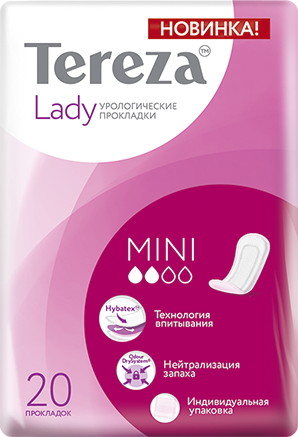 фото упаковки TerezaLady Mini прокладки урологические