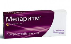 Меларитм, 3 мг, таблетки, покрытые оболочкой, 12 шт.
