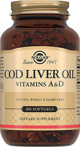 Solgar Жир из печени норвежской трески, 650 мг, капсулы, 100 шт.