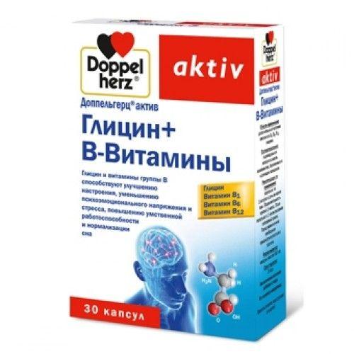 фото упаковки Доппельгерц актив Глицин + B-Витамины