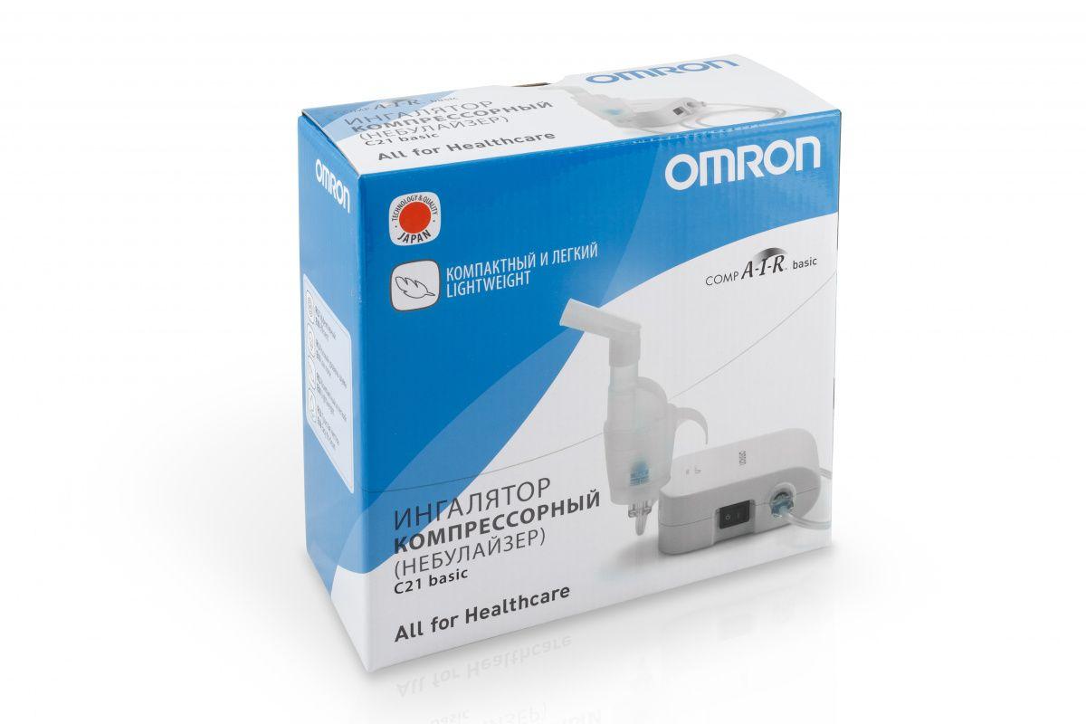фото упаковки Ингалятор Omron C21 Basic компрессорный