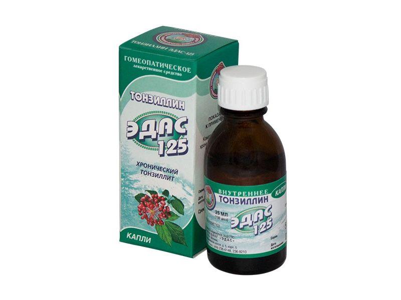 фото упаковки Эдас-125 Тонзиллин