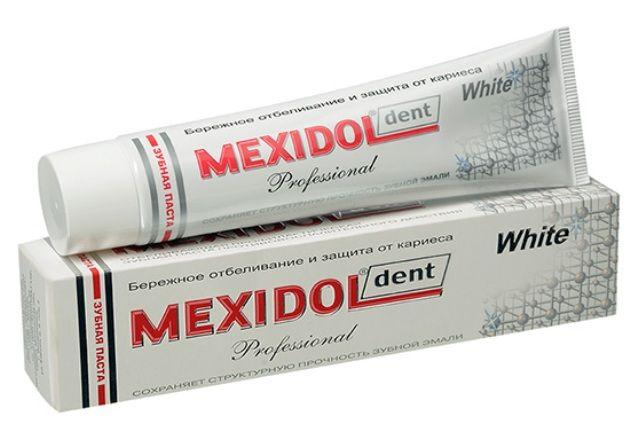 фото упаковки Mexidol dent White Professional Зубная паста