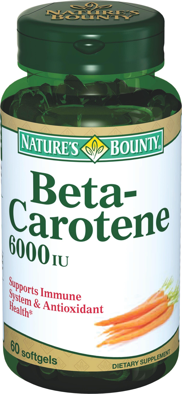 Natures Bounty Бета-каротин 6000 МЕ, 4 мг, капсулы, 60 шт.