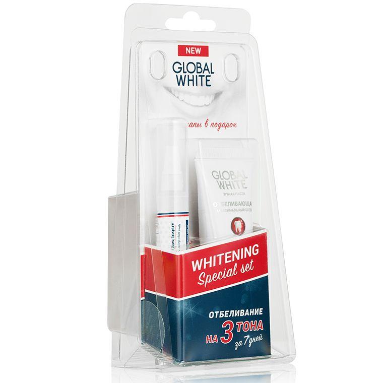 фото упаковки Global White набор отбеливающий с капами