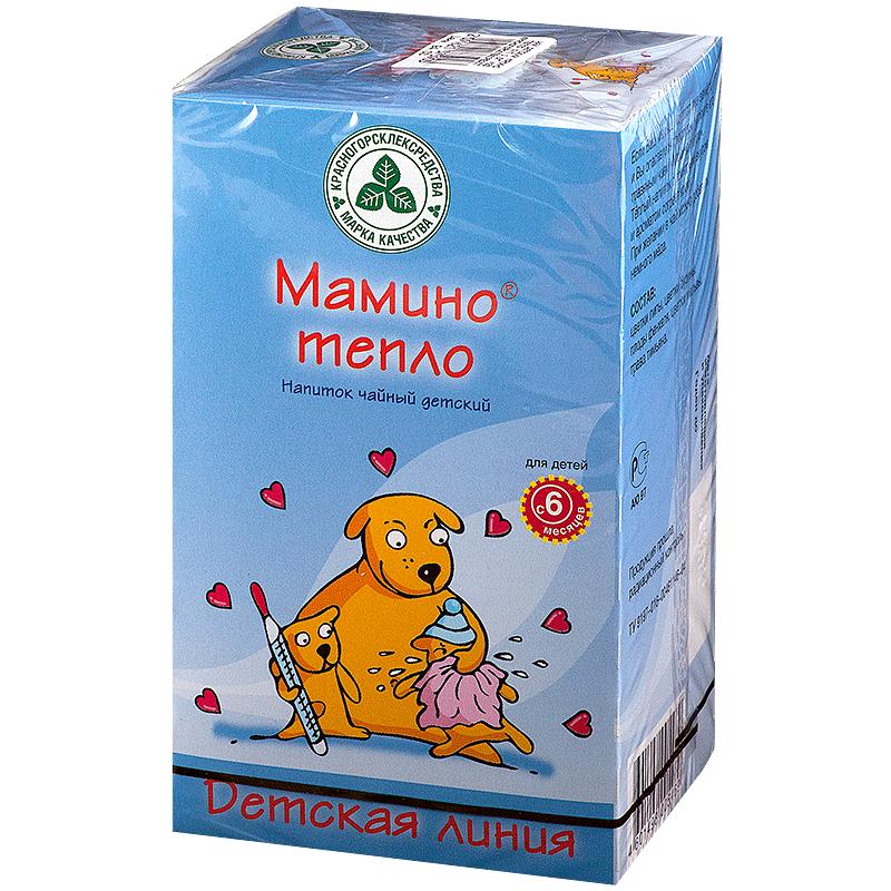 фото упаковки Мамино тепло напиток чайный детский