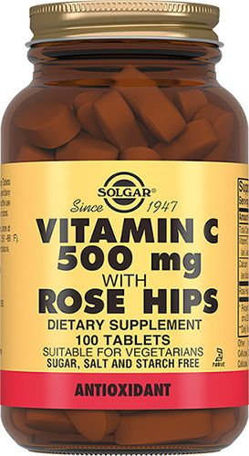 Solgar Витамин С и шиповник, 500 мг, таблетки, 100 шт.