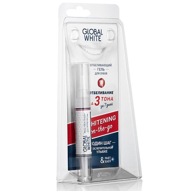 фото упаковки Global White карандаш отбеливающий для зубов