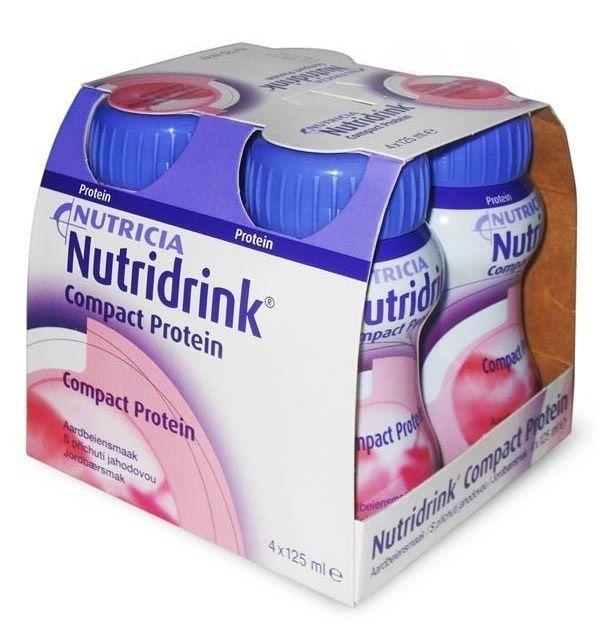 Nutridrink compact protein, жидкость для приема внутрь, со вкусом клубники, 125 мл, 4 шт.