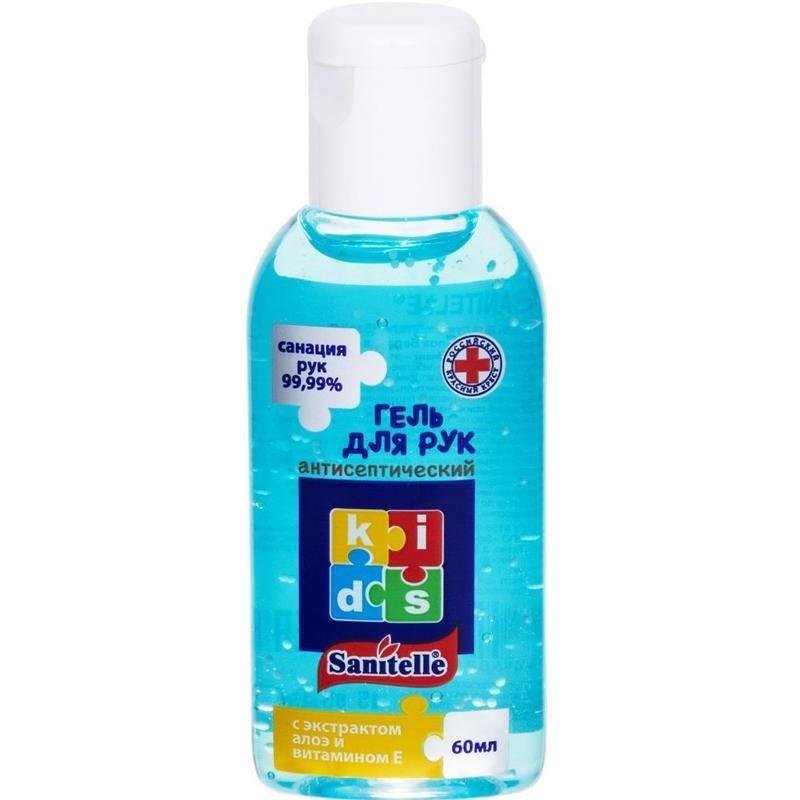 фото упаковки Sanitelle гель антисептический для рук детский с алоэ и витамином E