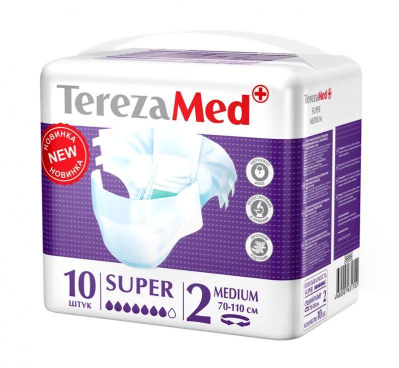 фото упаковки TerezaMed Super подгузники для взрослых ночные