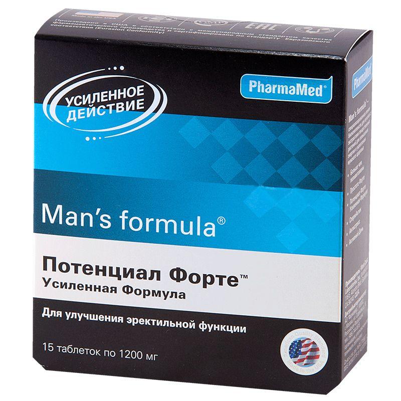Man's formula Потенциал Форте Усиленная формула, 1200 мг, таблетки, 15 шт.