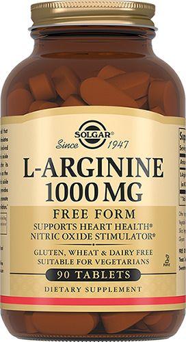 фото упаковки Solgar L-аргинин 1000 мг