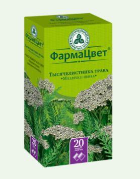 Тысячелистника трава, сырье растительное-порошок, 1.5 г, 20шт.