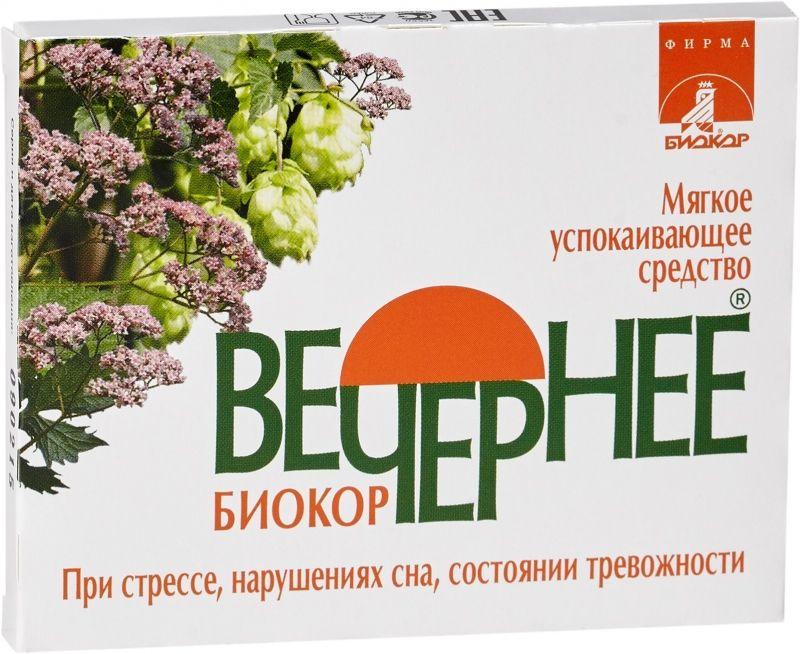 фото упаковки Вечернее Биокор Валериана + Хмель + Мята