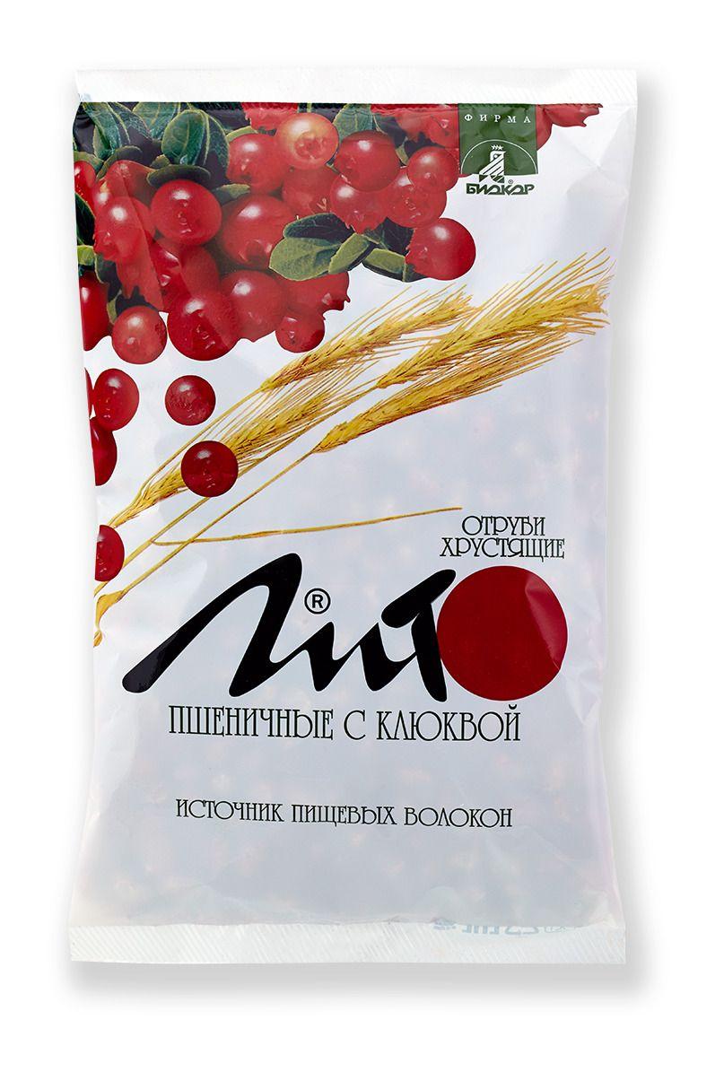 фото упаковки Отруби хрустящие сладкие Лито с кальцием и клюквой