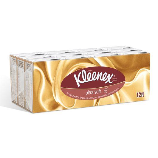 фото упаковки Kleenex платки носовые бумажные Ультрасофт
