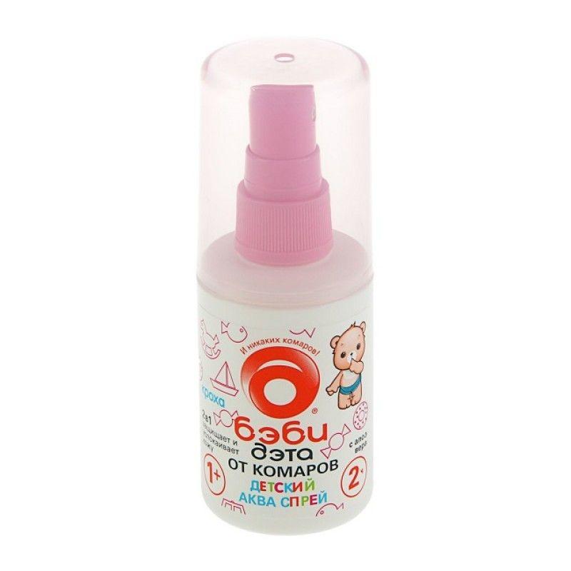 фото упаковки Бэби Дэта детский аква спрей от комаров