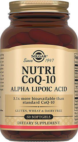 фото упаковки Solgar Нутрикоэнзим Q-10 с альфа-липоевой кислотой