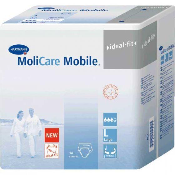 Подгузники-трусы MoliCare Mobile, Large L (3), 100-150 см, 14 шт.