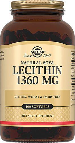 Solgar Натуральный соевый лецитин, 1360 мг, капсулы, 100 шт.