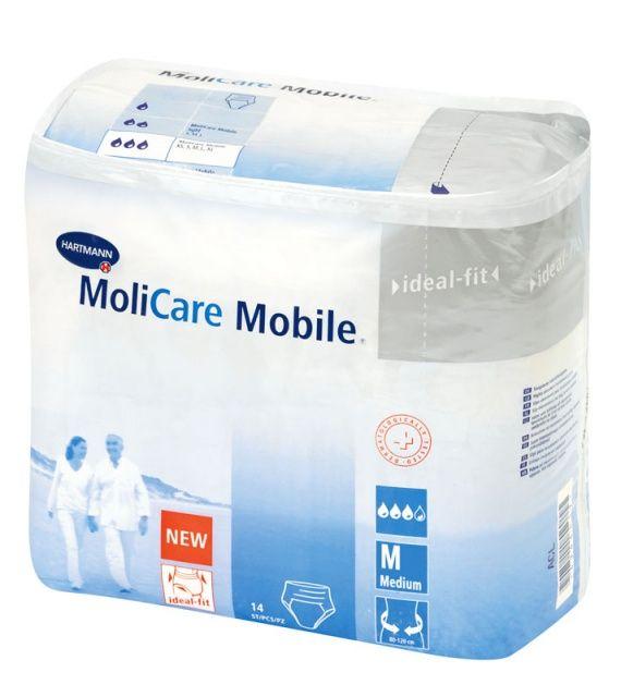 Подгузники-трусы для взрослых MoliCare Mobile, Medium M (2), 80-120 см, 14 шт.