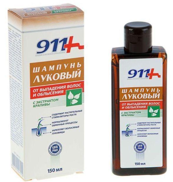 фото упаковки 911 шампунь Луковый с экстрактом крапивы