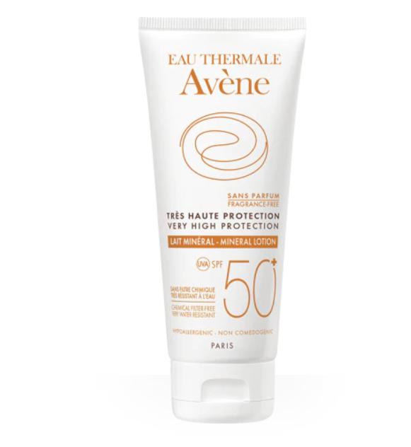 фото упаковки Avene солнцезащитное молочко с минеральным экраном SPF50+