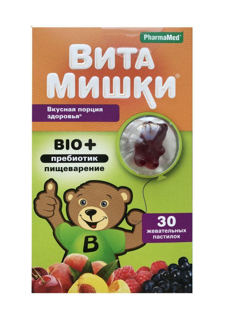 ВитаМишки BIO + пребиотик, пастилки жевательные, ассорти, 30 шт.