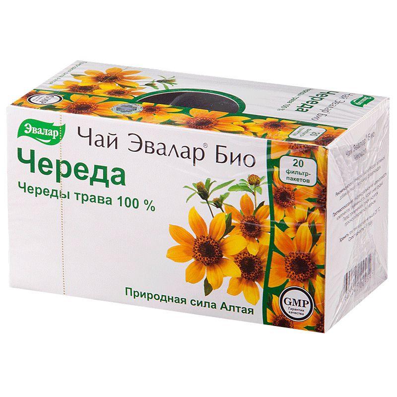 Чай Эвалар Био Череда, фиточай, 1.5 г, 20 шт.