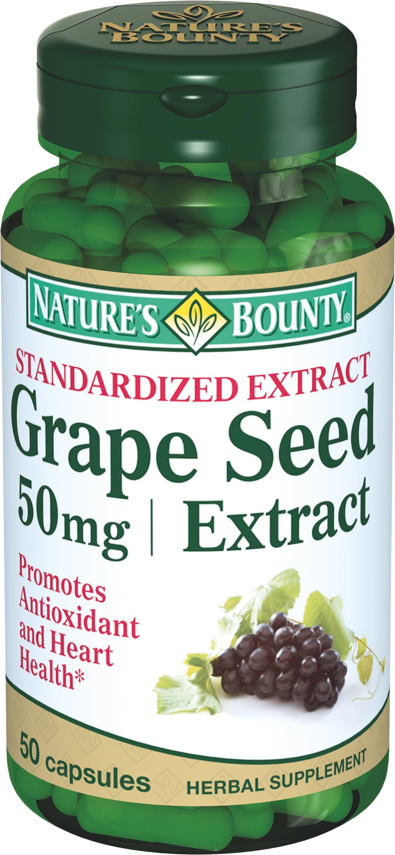 Natures Bounty Экстракт виноградных косточек, 50 мг, капсулы, 50 шт.