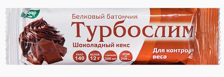 фото упаковки Турбослим батончик для похудения Шоколадный кекс