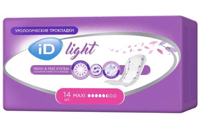 фото упаковки iD light maxi прокладки урологические
