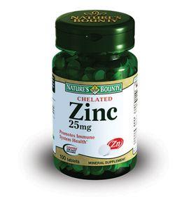 фото упаковки Natures Bounty Хелат Цинка 25 мг