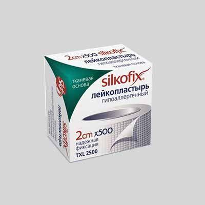 Лейкопластырь SILKOFIX, 2х500, пластырь медицинский, на тканевой основе, 1 шт.