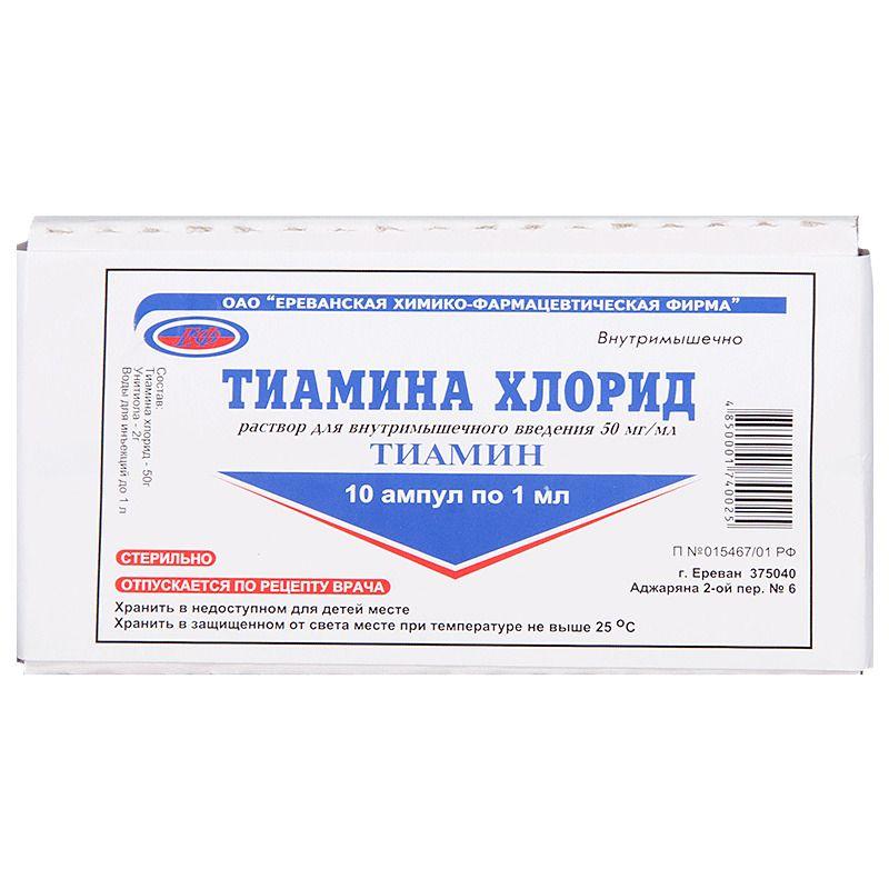 фото упаковки Тиамина хлорид
