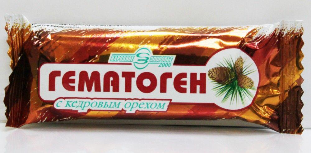 фото упаковки Гематоген Народный с кедровым орехом