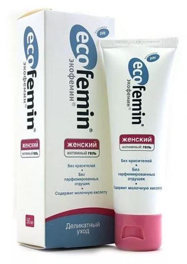 Экофемин Интимный гель, гель для наружного применения, женское, 50 мл, 1 шт.