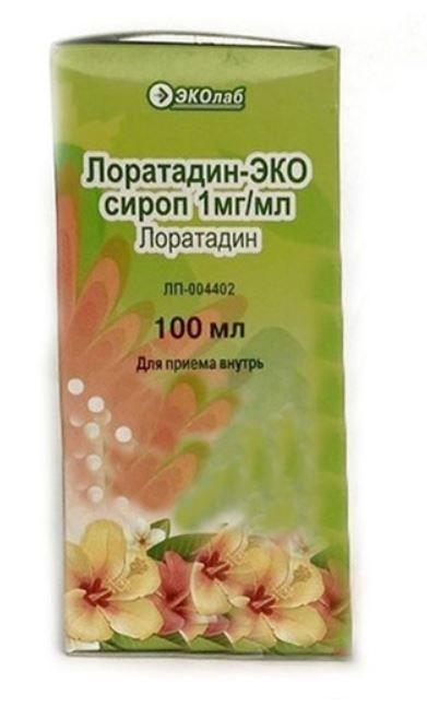 Лоратадин-Эко, 1 мг/мл, сироп, 100 мл, 1 шт.